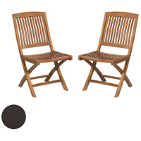 Teak Antique Smoke Outdoor Folding Game Chair
