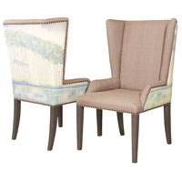 Ladies by the Lake Antique Smoke Wing Back Chair, Set of 2