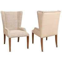 Upholstered Weathered Tuscan Wing Arm Chair