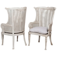 Caned Gray Chair Home Decor