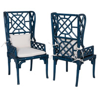 GuildMaster Bamboo Chair in Blue 694018P