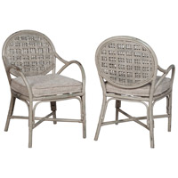 Farmhouse Antique Taupe with Woodlands Moss Grey Arm Chair, Set of 2