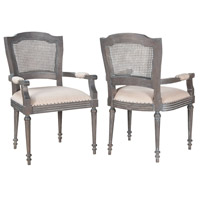 Chelsea Antique Smoke Arm Chair, Set of 2