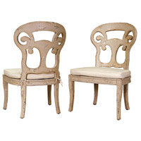 Guildmaster 697512P Verona Club Crossroads Rosa Side Chair Home Decor, with Muslin Cushions