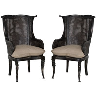 Caned Black Chair Home Decor