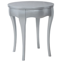 Manor 29 X 26 inch Antiqued Silver Leaf Accent Table