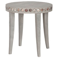 Waterfront 21 inch Waterfront Grey Side Table, Shell Button