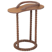 Sandal 14 X 14 inch Charcoal Brown Table Home Decor