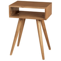 Teak Open Box 25 X 18 inch Euro Teak Oil Outdoor Side Table