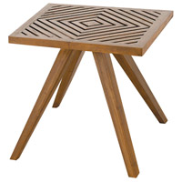 Teak Patio 20 X 20 inch Euro Teak Oil Outdoor Side Table