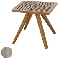 Teak Patio 20 inch Henna Teak Outdoor Side Table