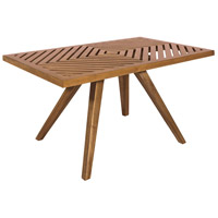 Teak Patio 36 X 22 inch Euro Teak Oil Outdoor Coffee Table