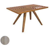 Teak Patio 36 X 22 inch Henna Teak Outdoor Coffee Table