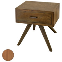 Teak Patio 22 X 20 inch Euro Teak Oil Outdoor Side Table, with Storage