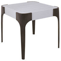 Teak 20 X 20 inch Cappucino Foam and Antiqued Brass Outdoor Veranda Side Table