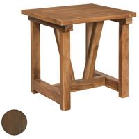 Galveston Pier 24 inch Burnt Umber Outdoor Side Table
