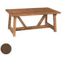 Galveston Pier 48 X 28 inch Burnt Umber Outdoor Cocktail Table