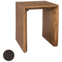 Teak Slab 24 inch Antique Smoke Outdoor Side Table