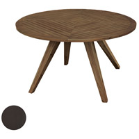 Teak Patio 60 inch Antique Smoke Outdoor Table, Round