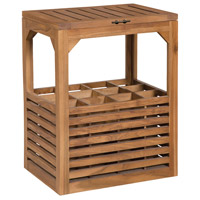Tuscan 24 X 19 inch Euro Teak Oil Outdoor Wine Table