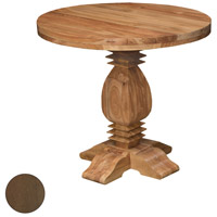 Tuscan 40 inch Burnt Umber Outdoor Side Table, Round