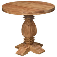 Tuscan 40 inch Euro Teak Oil Outdoor Side Table, Round
