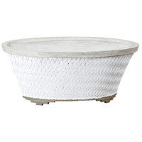 Cape Town 48 X 28 inch Wicker White Outdoor Cocktail