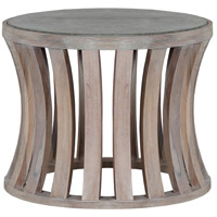 Bridgestone 20 inch Latte with Wax Outdoor Side Table, Round