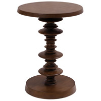 Spun 20 inch Weathered Mahogany Accent Table