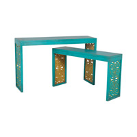 Parsons 48 X 14 inch Blue, Lime Table Home Decor