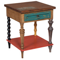Mosaic Treasures 22 inch Woodlands Stain Side Table