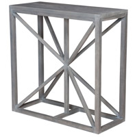 Axes 36 X 36 inch Waxed Grey Accent Table