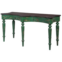 Guildmaster 714071 European Farmhouse 58 X 24 inch Green Desk, Camelback