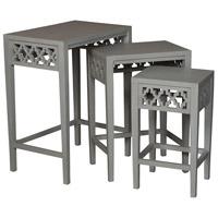 Guildmaster 714542S Manor 24 X 16 inch Gray Nesting Table Home Decor
