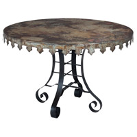 Guildmaster 715051 Reclaimed Tin 47 X 47 inch Natural Reclaimed Tin and Rusty Black Bistro Table