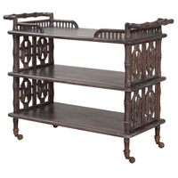 Guildmaster 715059 Waterfront Waterfront Grey Stain Bar Cart
