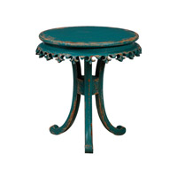 Fleur-De-Lis 27 X 27 inch Teal Table Home Decor