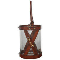 Leather 11 inch Brown Hurricane Portable Light, Small