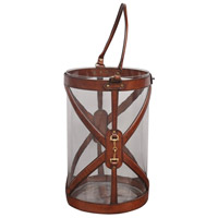 Leather 16 inch Brown Hurricane Portable Light, Large