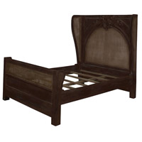 Guildmaster 9516002 Caned Acanthus Heritage Dark Grey Stain Bed, Queen