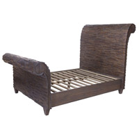 Signature Heritage Grey Dark Stain Sleigh Bed, King