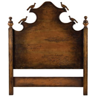 Carved Birds Retreat Stain Headboard, Queen