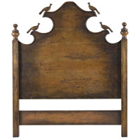 Carved Birds Retreat Stain Headboard, King