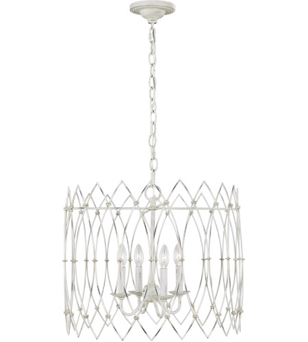 Generation Lighting CC1144RWT Chapman & Myers Gardner 4 Light 22 inch Rustic White Chandelier Ceiling Light photo thumbnail