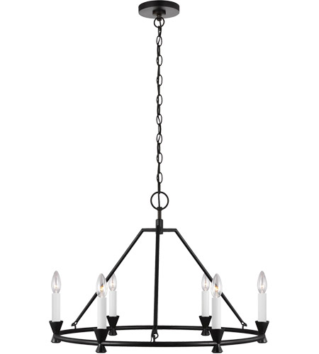 Generation Lighting CC1196AI Chapman & Myers Keystone 6 Light 29 inch Aged Iron Chandelier Ceiling Light photo