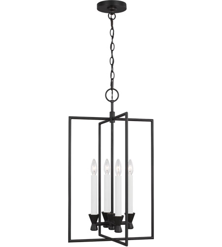 Generation Lighting CC1394AI C&M by Chapman & Myers Keystone 4 Light 16 inch Aged Iron Lantern Pendant Ceiling Light photo thumbnail