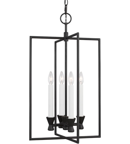 Generation Lighting CC1394AI C&M by Chapman & Myers Keystone 4 Light 16 inch Aged Iron Lantern Pendant Ceiling Light alternative photo thumbnail