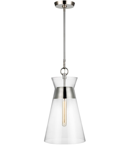 Generation Lighting CP1021PN Chapman & Myers Atlantic 1 Light 11 inch Polished Nickel Pendant Ceiling Light photo thumbnail