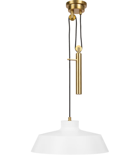 Generation Lighting EP1031MWT ED Ellen DeGeneres Candor 1 Light 17 inch Matte White Pendant Ceiling Light photo