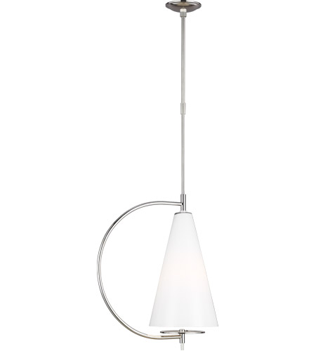 Generation Lighting KP1041PN Kelly by Kelly Wearstler Gesture 1 Light 10 inch Polished Nickel Pendant Ceiling Light photo thumbnail